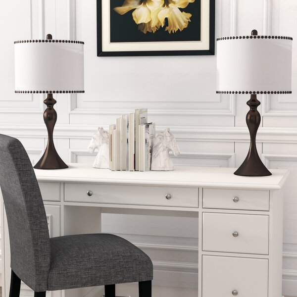 Dorcia 27 Table Lamp (Set of 2) by Charlton Home