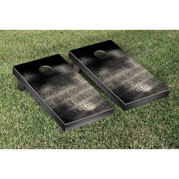 Vietnam Memorial Version 1 Cornhole Boards Game Set by Victory Tailgate