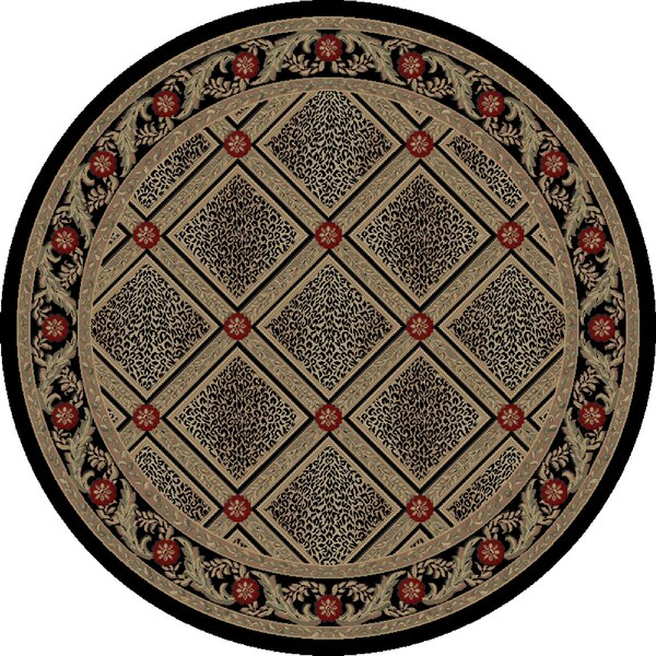 Imperial Charlemagne Black Diamond Leopard Area Rug by Threadbind