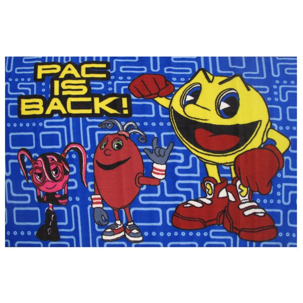Pac-Man Blue Area Rug by Fun Rugs
