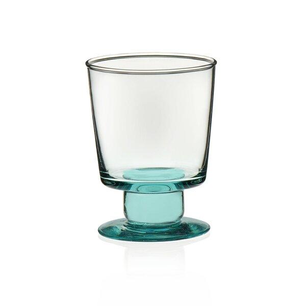 Luna Hand-blown Stemmed Rocks 10 oz. Pint Glasses (Set of 4) by Prologue