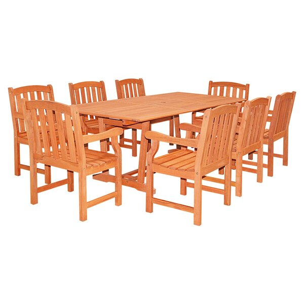 Monterry Patio 9 Piece Dining Set by Beachcrest Home