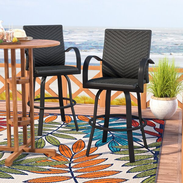 Ellyson 29 Patio Bar Stool (Set of 2) by Beachcrest Home| @ $699.00