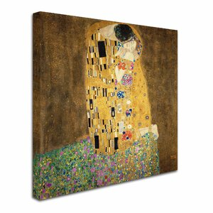 The Kiss, 19078 by Gustav Klimt Painting Print on Canvas by Trademark Fine Art