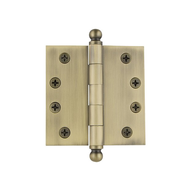 4 Ball Tip Heavy Duty Hinge with Square Corners by Grandeur