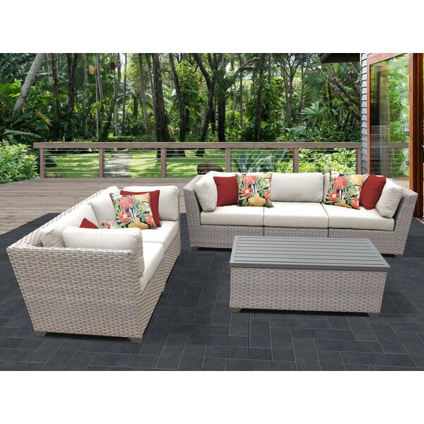 Merlyn 6 Piece Sofa Seating Group with Cushions by Sol 72 Outdoor Sol 72 Outdoor