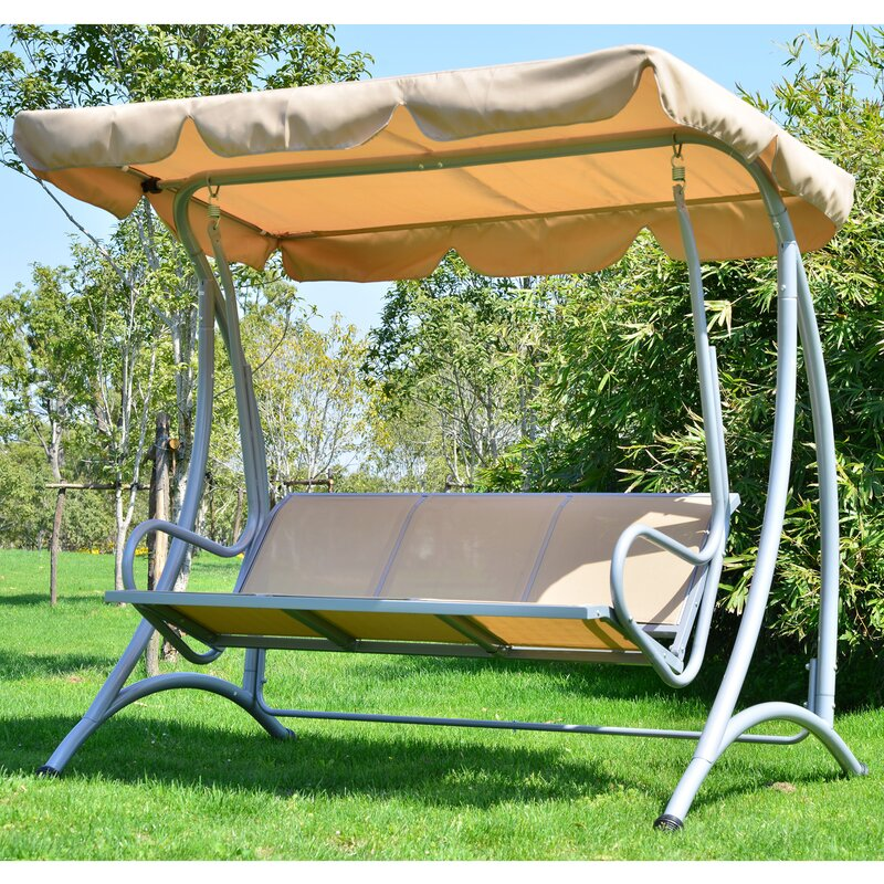Charlton Home Northfield Patio Swing with Stand & Reviews | Wayfair