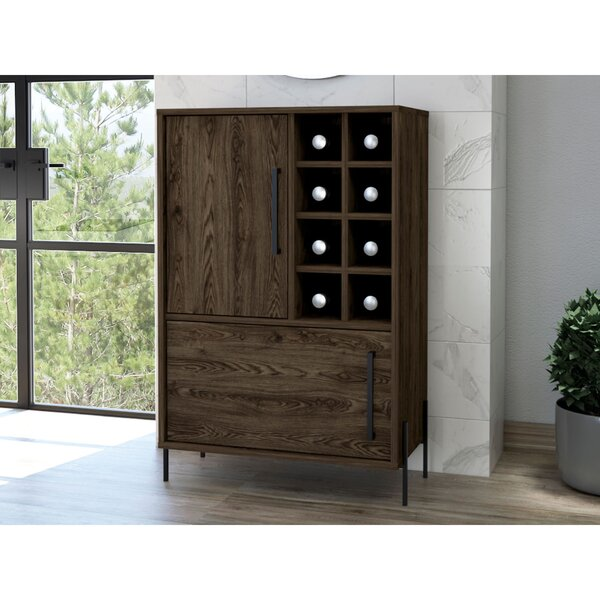 Oaklee Page Bar With Wine Storage By Union Rustic