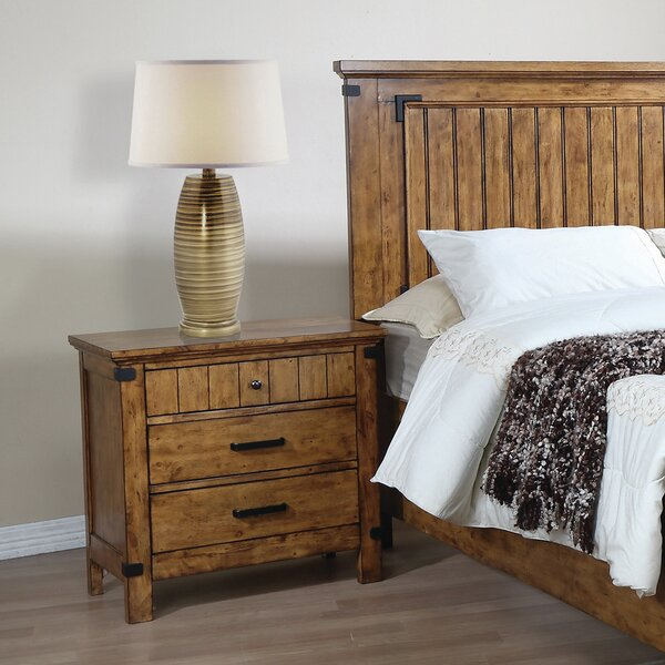 Hartford 3 Drawer Nightstand by Loon Peak