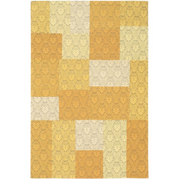 Collage Yellow / Gold Patchwork Area Rug by ECARPETGALLERY
