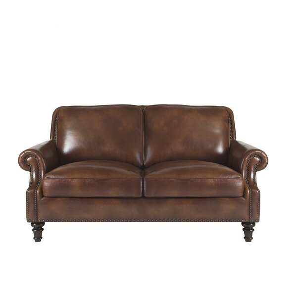 Franciscan Leather Loveseat by Canora Grey