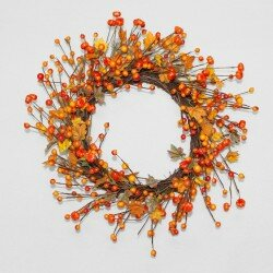 Pumpkin Berry 18 Wreath by Charlton Home