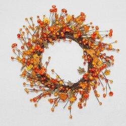 Pumpkin Berry 18 Wreath by Charlton Home
