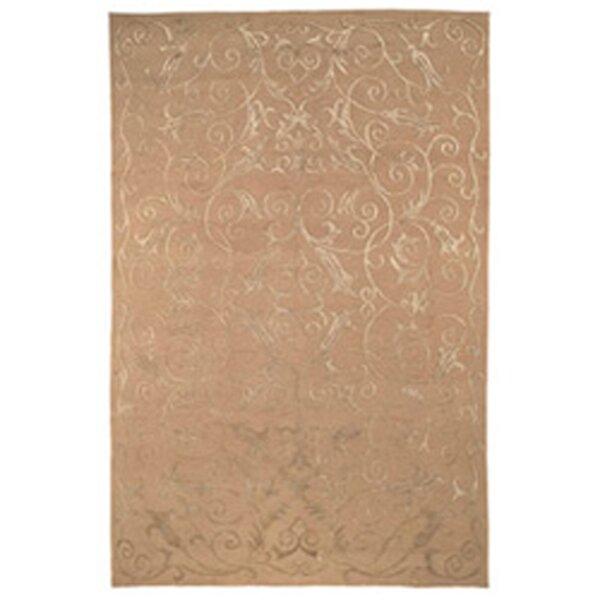 Honora Tibetan Hand Knotted Silk/Wool Beige Area Rug by House of Hampton