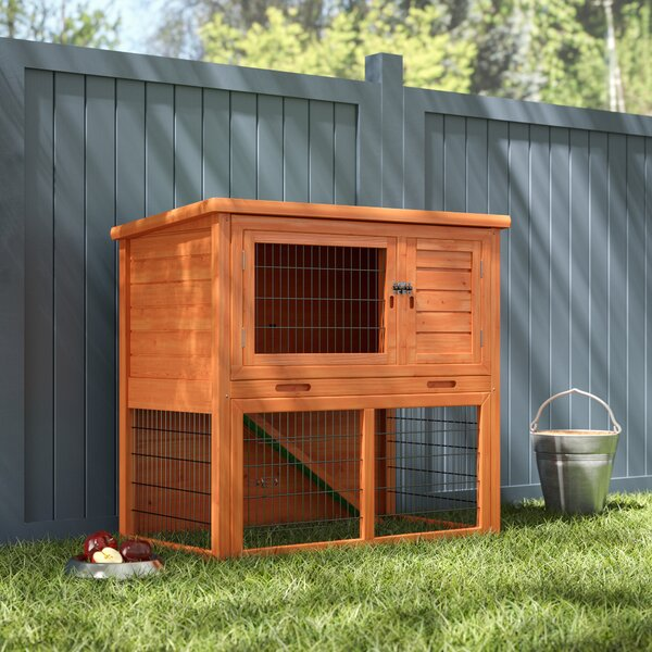 Freya Chincilla Hutch with Sloped Roof by Archie & Oscar