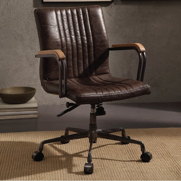 Xander Genuine Leather Executive Chair by Foundry Select