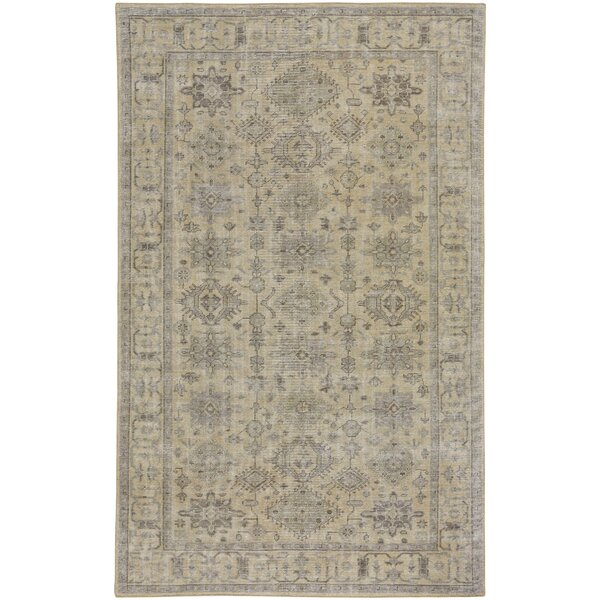 Caria Hand-Knotted Light Tan/Olive Area Rug by Capel Rugs