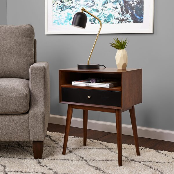 Hollingshead End Table With Storage By George Oliver