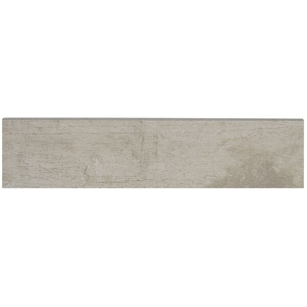Season Wood 12 x 3 Porcelain Bullnose Tile Trim in Winter Spruce by Daltile