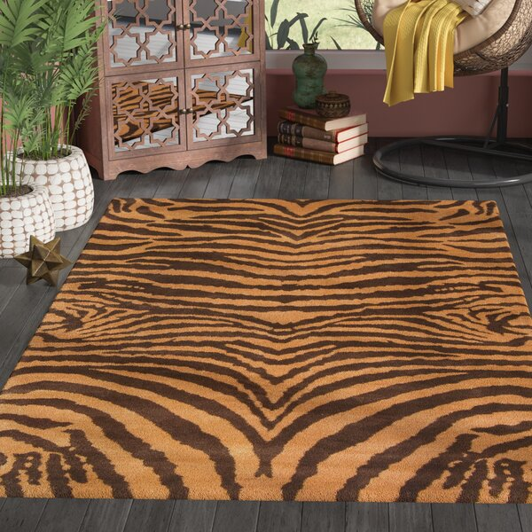 Dorthy Brown/Gold Area Rug by Bloomsbury Market