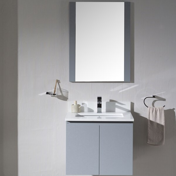@ Maly 24 Single Bathroom Vanity Set with Mirror by Orren Ellis| #$0.00!