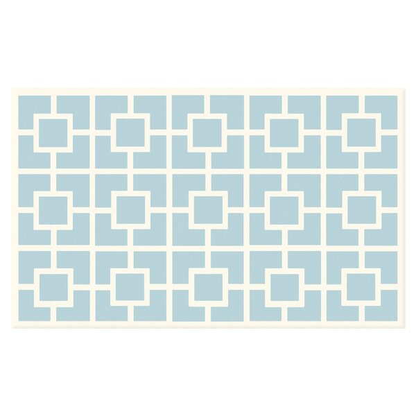 Blue/White Area Rug by The Conestoga Trading Co.