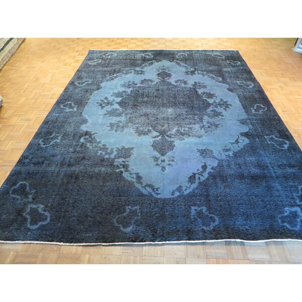 One-of-a-Kind Padro Hand-Knotted Wool Aqua/Blue Area Rug by Bloomsbury Market
