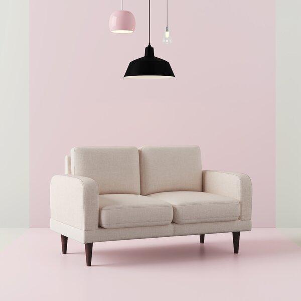 Sydney Linen Upholstered Loveseat by Hashtag Home