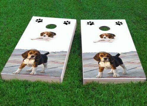 Beagle Lovers Cornhole Game (Set of 2) by Custom Cornhole Boards