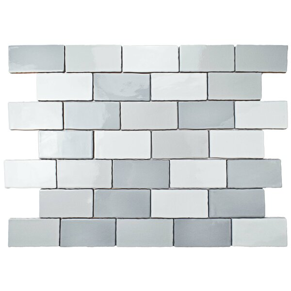 Antiqua 3 x 6 Ceramic Subway Tile in Craquele Soho Gray by EliteTile