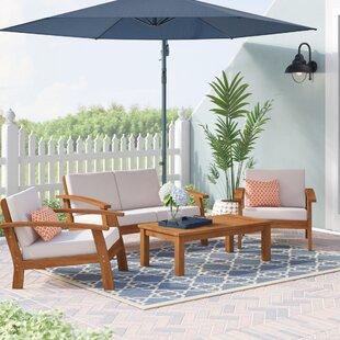 Fann 4 Piece Sofa Set with Cushions ByBeachcrest Home