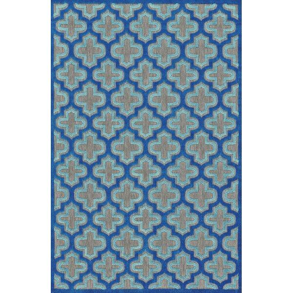 Harlow Blue Indoor/Outdoor Area Rug by Threadbind