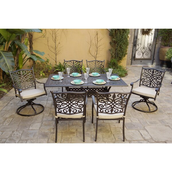 Buntin 7 Piece Dining Set with Cushions by Canora Grey