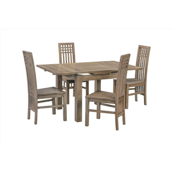 Pedraza 5 Piece Extendable Dining Set By Loon Peak