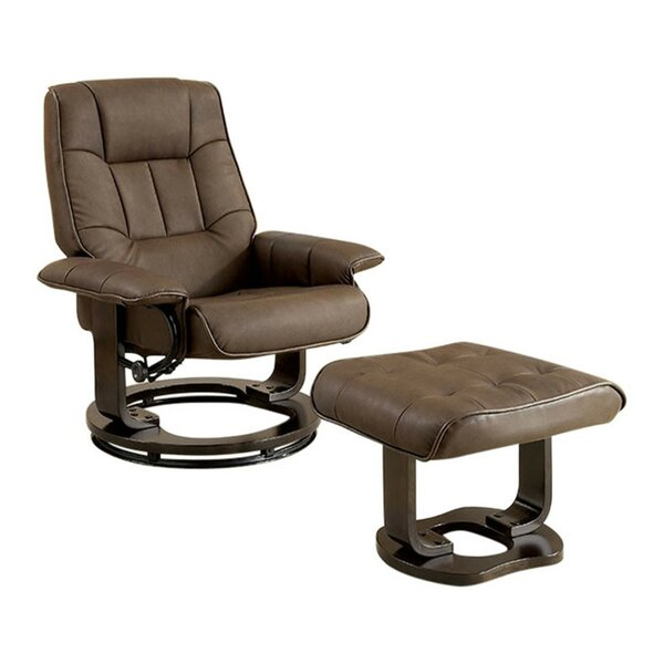 Rivenbark Swivel Lounge Chair and Ottoman by Latitude Run Latitude Run