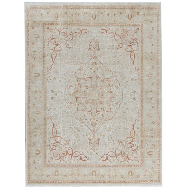 Oriental Hand-Knotted Wool Ivory/Beige Area Rug