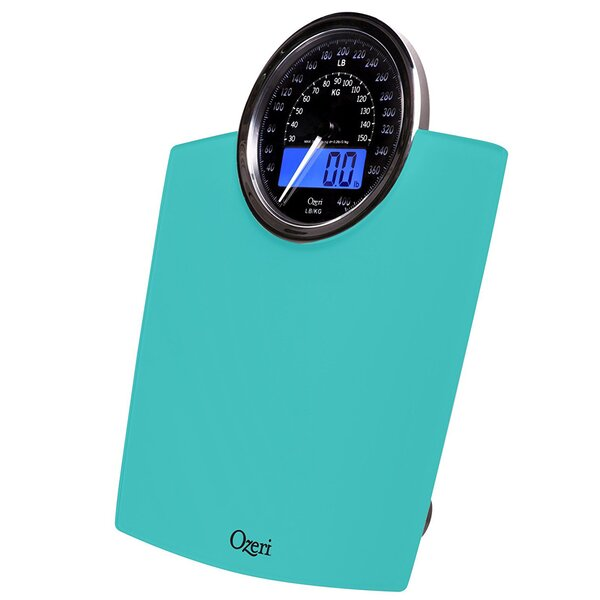 Rev Digital Bathroom Scale with Electro-Mechanical Weight Dial by Ozeri