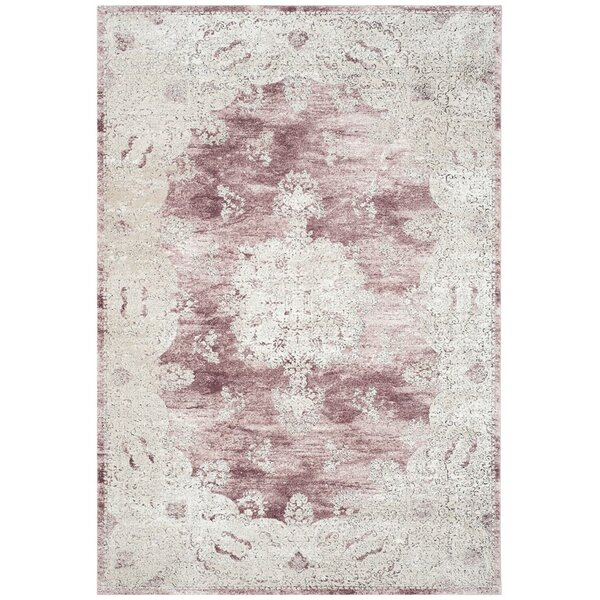 Prager Rose/Beige Area Rug by One Allium Way