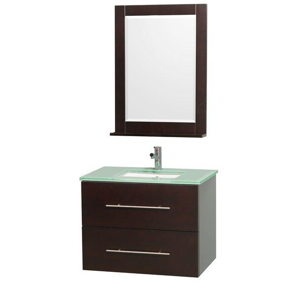 Centra 30 Single Espresso Bathroom Vanity Set with Mirror by Wyndham Collection