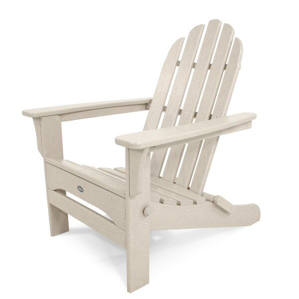 Cape Cod Recycled Plastic Folding Adirondack Chair by Trex Outdoor Trex Outdoor