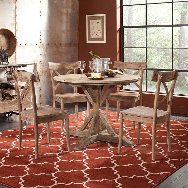 Dupre Wood Solid Wood Dining Table by One Allium Way