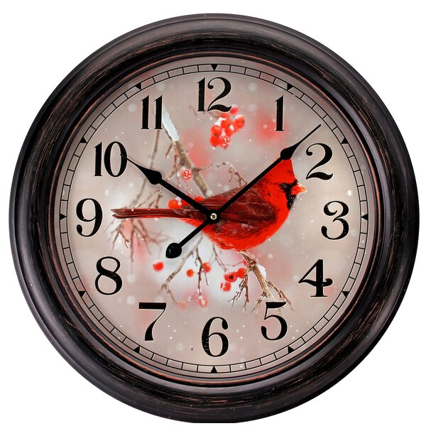 Potomac Cardinal 18 Wall Clock by The Holiday Aisle
