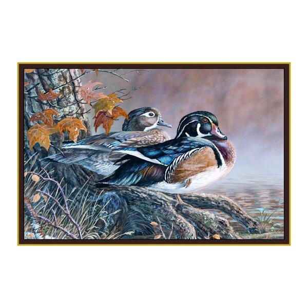 Wildlife Wood Ducks Brown/Gray Area Rug by Custom Printed Rugs