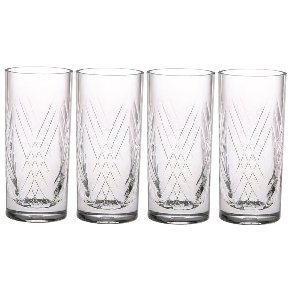 Deco 6 oz. Acrylic Collins Glass (Set of 4) by Chenco Inc.
