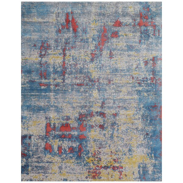 Antolini Hand-Woven Blue Area Rug by Exquisite Rugs
