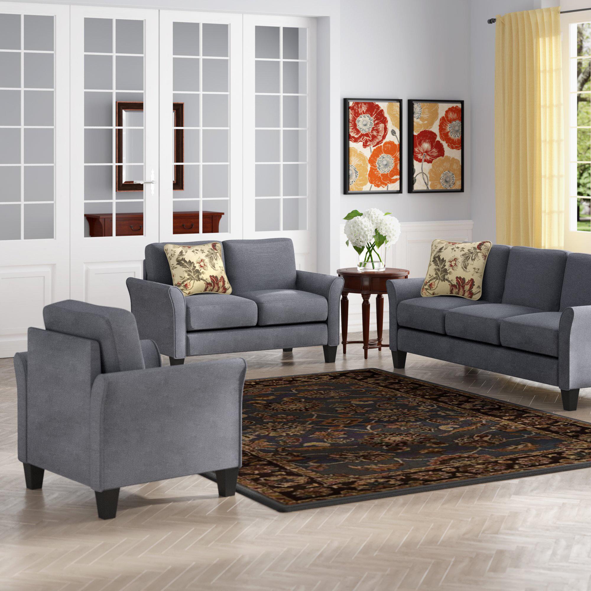 Red Barrel Studio Goldnilla 3 Piece Living Room Set Reviews Wayfair