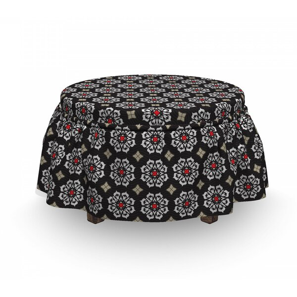 Floral Ornament Motifs Ottoman Slipcover (Set Of 2) By East Urban Home