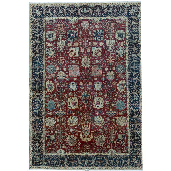 Sona Oriental Hand-Knotted Wool Red Area Rug