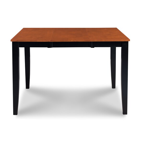 Charlestown Counter Height Extendable Solid Wood Dining Table by Alcott Hill Alcott Hill