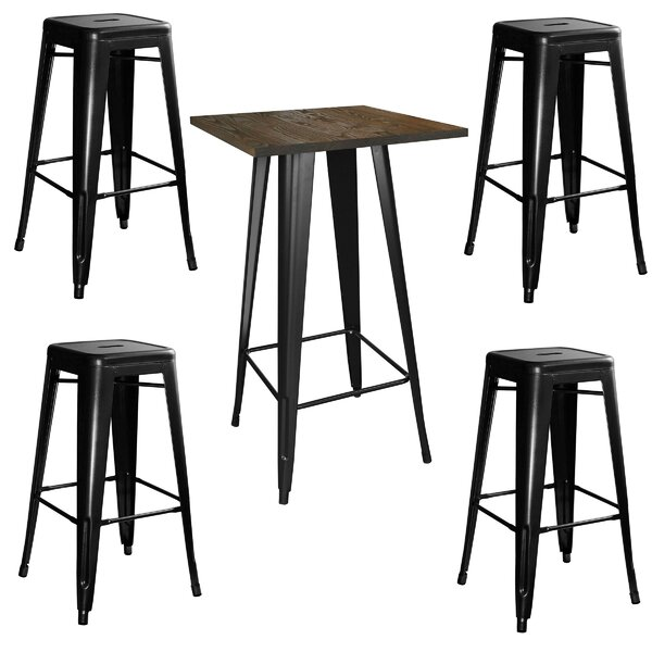 Racheal Loft 5 Piece Pub Table Set By Trent Austin Design New